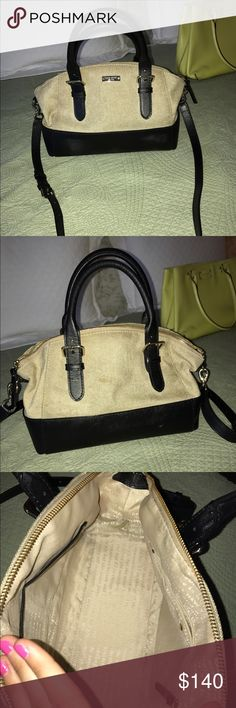 BLACK/CANVAS KATE SPADE PURSE GREAT CONDITION•NEWER•PLENTY OF POCKETS kate spade Bags
