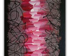 Abstract Painting Pink Painting Pink Abstract Art door cekalovic