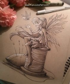 Fairy 1 by KelleeArt ~ Love her art - her graphics just jump off the page!