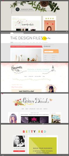 Working on a website and love to get inspired by these beautiful blog designs!