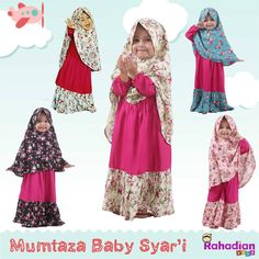 So pretty! Modest Outfits, Kids Outfits, Dress Anak, Kids Fashion, Fashion Outfits, Gull, African Wear, Muslim Women, Muslim Fashion