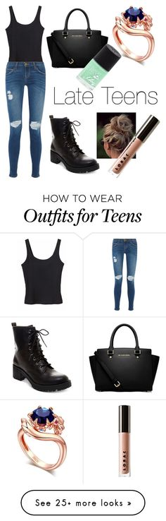"""Black Dragon-Late Teens"" by lovefashionxxxxxx on Polyvore featuring Monki, Current/Elliott, Madden Girl, LORAC, MICHAEL Michael Kors, Rimmel, women's clothing, women, female and woman"