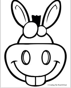 Horse mask printable coloring page for kids | Kids Crafts ...