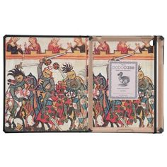 MEDIEVAL TOURNAMENT, FIGHTING KNIGHTS AND DAMSELS iPad FOLIO CASE