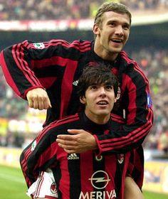 "Kaka and ""Sheva"" Shevchenko Retro Football, Football Art, Sport Football, Best Football Players, Soccer Players, Ac Milan, Ricardo Kaka, Legends Football, Most Popular Sports"