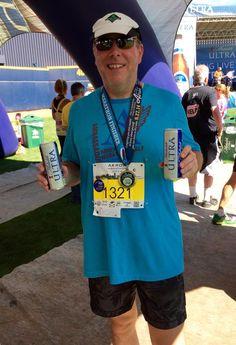 Asheville Marathon & Half Ambassador, Tom Mangan, at the Akron Marathon in Akron, Ohio.