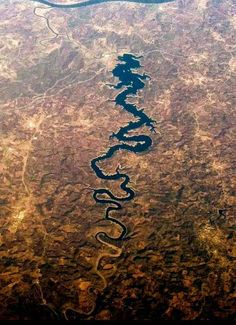 Aerial view of the Blue Dragon River in Portugal