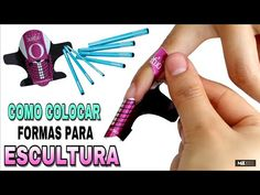 Clase #7/Uñas Esculturales💖 Como colocar la forma para Escultura correctamente/punta square - YouTube Fiberglass Nails, Acrylic Nails At Home, Nail Stamping, Nail Inspo, Pretty Nails, 3 D, Diy And Crafts, Manicure, Nail Designs