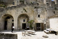Albergo della Civita.  Matera, Italy. UNESCO world heritage listed. The hotel is spread over a number of Sassi or caves