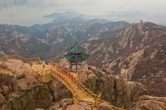Mt Laoshan, Shandong Province, China Qingdao, Amazing Places, Climbing, Places Ive Been, Paris Skyline, Grand Canyon, The Good Place, China, Nature