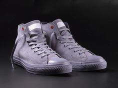 When Converse approached us concerning the (RED) Project we gladly joined. The result is a monochrome take on the iconic Chuck Taylor. Converse Chuck Taylor All Star, Converse All Star, Converse Shoes, Men's Shoes, Shoe Boots, Purple Converse, Converse High, Fashion Shoes, Mens Fashion