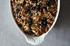 Blueberry Baked Oatmeal   17 Snow Day Recipes You Can Cook (or Drink) Right Now