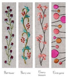 Circle game barrette kit diy embroidery barrette kit beginner kit diy hair accessory pink and orange barrette french clip barrette Berry vine Barette kit DIY embroidery by CynthiaTreenStudio This kit contains everything you need to make one French clip st Crewel Embroidery Kits, Embroidery Stitches Tutorial, Silk Ribbon Embroidery, Hand Embroidery Patterns, Embroidery Techniques, Embroidery Thread, Flower Embroidery, Embroidery Supplies, Learn Embroidery