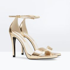 50437eecd42acf 28 Celebrity-Inspired Day-to-Night Accessories - Metallic Strappy Heels  from