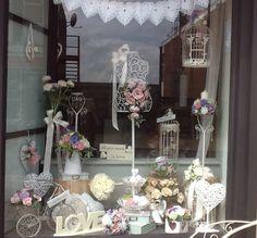Vintage Wedding Window Display
