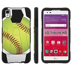 """Buy LG [Tribute HD] LS676 [5"""" Screen] ShockProof Case [ArmorXtreme] [Black/Black] Hybrid Defender [Kickstand] - [SoftBall] for LG [Tribute HD] NEW for 7.25 USD 