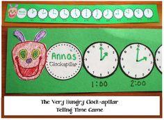The Very Hungry Clockapillar Craftivity and Game