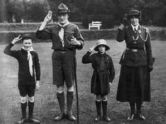 lord and lady  baden powell  boy scouts  britain