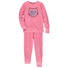 Two-Piece Adjustable Pajamas / Pyjama deux pièces évolutif Rose à motifs Souris Mini