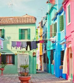 Beautiful, bright Burano, Italy.