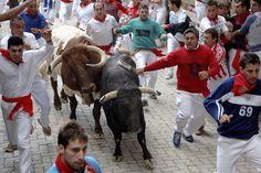 Grab the bull by the horn (literally) at the Running of the Bulls during the San Fermin Festival, Spain http://www.kensingtontours.com/tours/europe/spain/hemingways-spain
