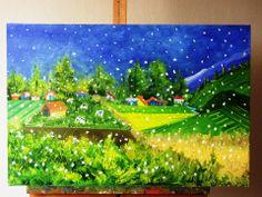 """pintura para niños """"nevando"""""""