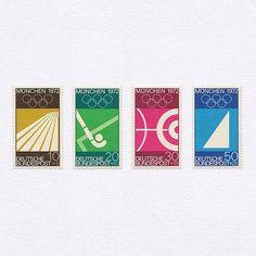 Munich 1972 Olympics (10+5/20+10/30+15/50+25). West Germany, 1972. Design…