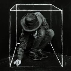 """Selfportrait Cubed""  John S. Dickstra"