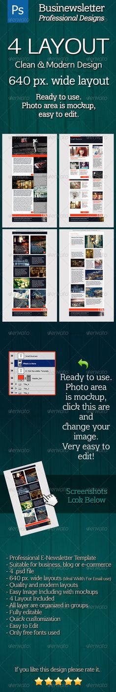 Businewsletter - Modern & Clean Newsletter - E-newsletters Web Elements