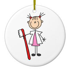 Dental Assistant With Toothbrush Ornament