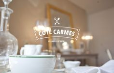 Côté Carmes by David Duphil, via Behance Vintage Typography, Typography Logo, Lettering, Logo Branding, Typography Design, Typography Inspiration, Logo Design Inspiration, Pattern Design, Print Design