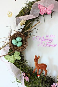 In the Spring Forest.  A wreath celebrating all things Spring.