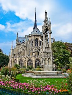 Our last day in Paris we sat in this park behind Notre Dame and listened to the rain. I met myself in Paris Beautiful Architecture, Beautiful Buildings, Architecture Old, Beautiful Places, Beautiful Castles, Places Around The World, The Places Youll Go, Places To See, Around The Worlds