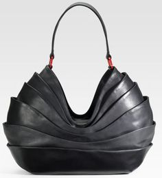 Christian Louboutin Layered Leather Hobo. Wow.  I could never afford it but wow!  Gorge!