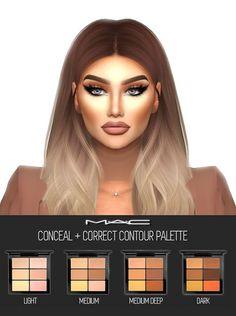 4 CC's - The Best: Conceal + Correct (Contour Palette) by MAC - marguerite -Sims .Sims 4 CC's - The Best: Conceal + Correct (Contour Palette) by MAC - marguerite -Sims . Sims 4 CC's - The Best: Conceal + Correct (Contour Palette) by MAC - The Sims 4 Mac Makeup, Sims 4 Cc Makeup, Contour Makeup, Prom Makeup, Makeup Kit, Makeup Products, Makeup Brushes, Face Contouring, Contour Face