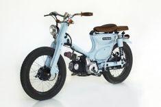 "Honda ""The Little Blue"" by Deus Ex Machina - Lsr Bikes Honda Cub, Deus Ex Machina, Cool Motorcycles, Mini Bike, Motorcycle Bike, Bike Design, Custom Bikes, Custom Bobber, Custom Cars"