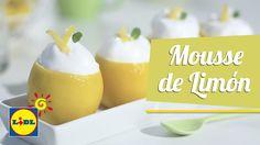 Mousse De Limón - Hoy Cocinamos Lidl, Pudding, Desserts, Food, Youtube, Lemon Mousse, Cooking Recipes, Meals, Spoons