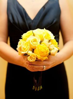 Yellow Bouquet...like this for a possible bridesmaids bouquet