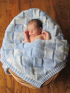 Entrelac Knit Baby Blanket--free pattern & tutorial