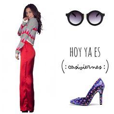 Ya es #jueves !!!! #outfit #pinkett !! Y nuestros complementos #lentes @viavanilla y #zapatos @high_onfashion