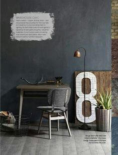 Lamp. Artwork. Chair.