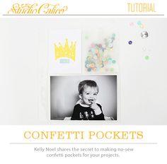 No sew confetti pockets!