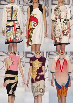TSUMORI CHISATO I Comic Book Layouts  – Super Hero Imagery – Abstract Placements – Illustrative Styles – Humour Graphics – Naive Drawing Style – Bold Graphic Prints – Textured Areas I PARIS Fashion Week