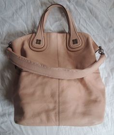 ~AUTHENTIC LARGE GIVENCHY NUDE LEATHER NIGHTINGALE SHOPPING BAG (CELEB FAVE!) ~ #Givenchy #TotesShoppers