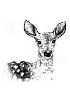 Darling deerest, 30x42 cm på Nordic Design Collective