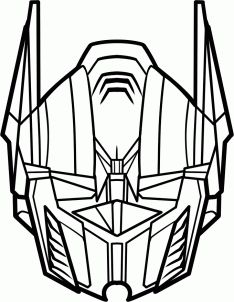 how to draw optimus prime easy step 6 - Optimus Prime Face Coloring Pages