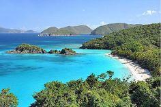 Trunk Bay Virgin Islands - St John's - my favorite beach of those we visited. Great snorkeling.