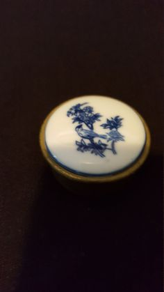 Hand crafted and Painted Delft Dutch Blue Bird  by LuisBlindFinds