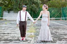 Karen  Daves Romantic Vintage Carnival Wedding