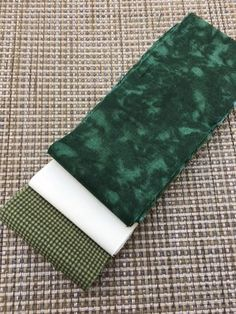 Mini Fabric Jelly Roll- 6 Strip Pack- Dark Green/ Cream